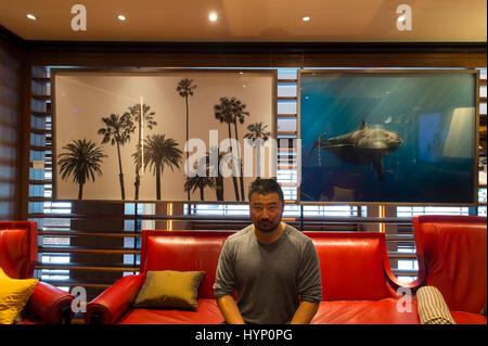 Dorchester Hotel, 45 Park Lane, London, UK. 6th April, 2017. Los Angeles based fine art photographer Jin-Woo Prensena - Stock Photo