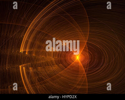 Glowing disk - abstract digitally generated image - Stock Photo