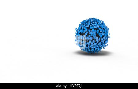 Background of the abstract sphere, 3d render working - Stock Photo