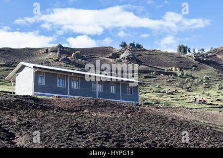 Ethiopia, Hospital of Simien mountains managed by the NGO (Non Governmental Organization) Simian Mountain Mobile - Stock Photo