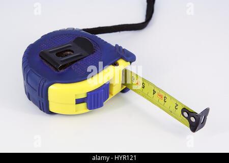 Construction meter. Measuring tool. Tape measure. Tape meter. - Stock Photo