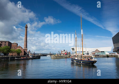Daytime view of Canning Dock part of the Albert Dock area in the cultural quarter of Liverpool. Taken 11th June - Stock Photo