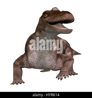 3D rendering of a dinosaur keratocephalus isolated on white background - Stock Photo