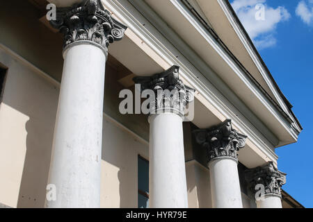 part of old abandoned column building - Stock Photo