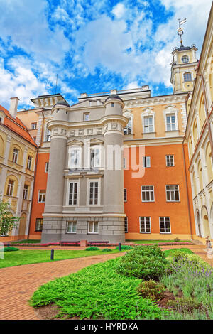 Astronomical Observatory tower at courtyard of Vilnius University, Vilnius, Lithuania - Stock Photo