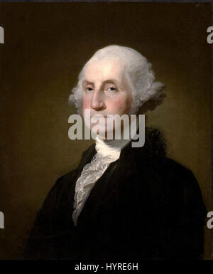 Portrait of George Washington by Gilbert Stuart 1797 - Stock Photo
