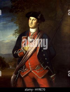 Washington at the age of 40, 1772 Charles Willson Peale - Stock Photo
