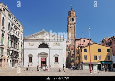 Chiesa di San Maurizio Museo della Musica. Venice Italy - Stock Photo