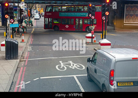 Road junction with traffic signals Stock Photo, Royalty ...