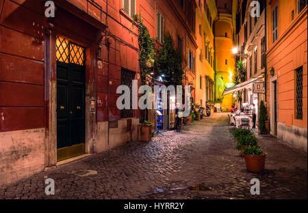 Street in Rome at night - Stock Photo
