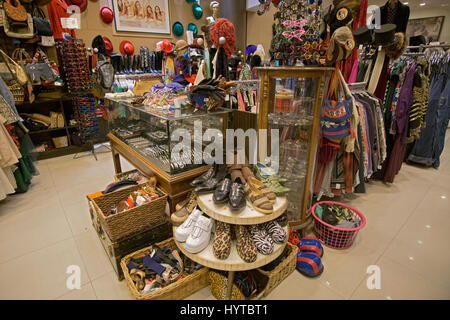 Reminiscence vintage clothing and knickknack store on Fifth Avenue in Greenwich Village, New York City - Stock Photo