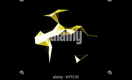 A ring of abstract plexus shapes. Seamless loop - Stock Photo