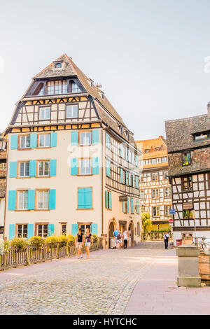 historic half-timbered housess, rue des moulins, hotel pavillon regent petite france