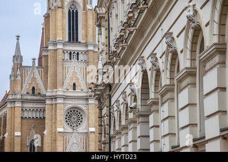 The Name of Mary Church, also known as Novi Sad catholic cathedral. This cathedral is one of the most important - Stock Photo