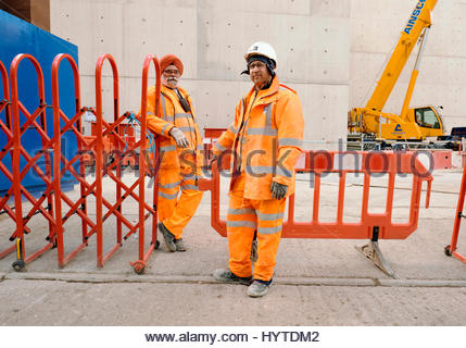 Hard Hat Workman At London Building Construction Site