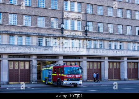 London Fire Brigade Headquarters, Lambeth, London, England, U.K. - Stock Photo