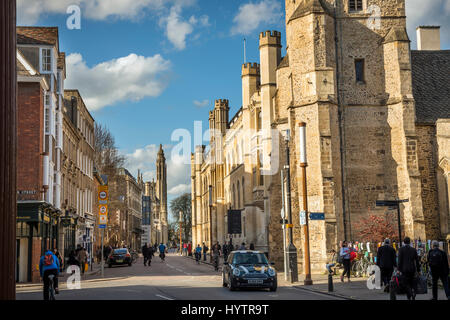 University buildings on Trumpington Street in Cambridge, England, UK - Stock Photo