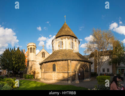 The Church of the Holy Sepulchre, known as The Round Church, Cambridge, England, UK - Stock Photo