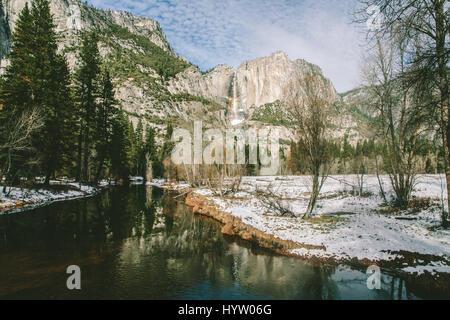 Yosemite Falls at Yosemite, California, USA - Stock Photo