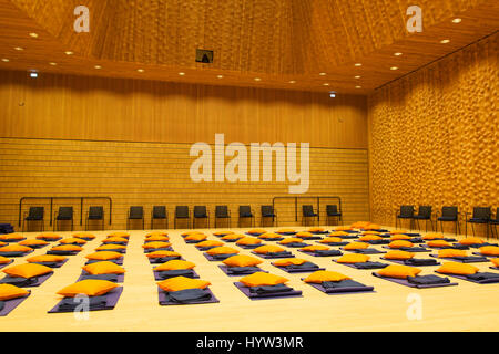 Mats within the recital hall at the Elbphilharmonie in Hamburg, Germany. The multi-purpose building is in the HafenCity. - Stock Photo