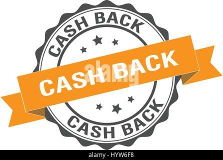 Cash back stamp illustration - Stock Photo