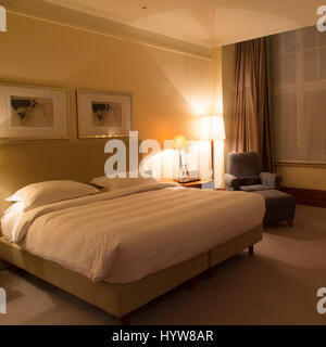 luxury five star hotel bedroom door and aluminium metal door handle stock photo royalty free. Black Bedroom Furniture Sets. Home Design Ideas