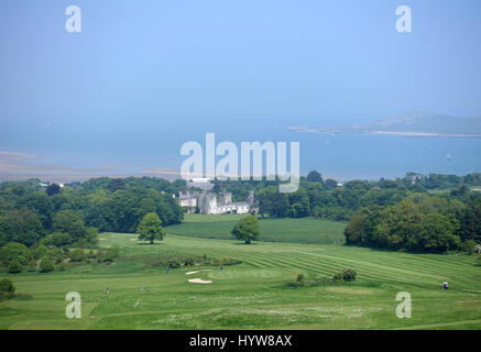 Dublin,Ireland - May 29, 2016. View from the top of the hill on Deer castle and beach in Howth - Stock Photo