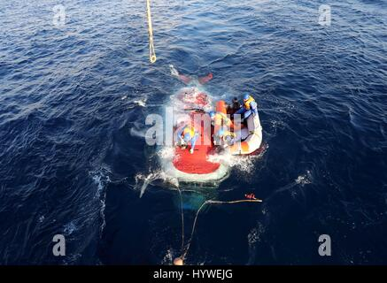 South China Sea. 26th April, 2017.  China's manned submersible Jiaolong begins its first dive this year in the South - Stock Photo