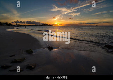 This image was taken at Dickenson Bay on the island of Antigua.  The bay is on the northwestern shore of the island, - Stock Photo