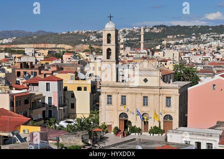 The Greek Orthodox Cathedral dedicated to Panagia Trimartyri Chania Crete - Stock Photo
