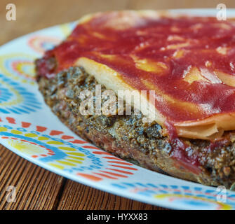 liver cake. home cooking close up - Stock Photo