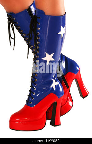 patriotic boots - Stock Photo