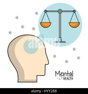 mental health head balance image - Stock Photo