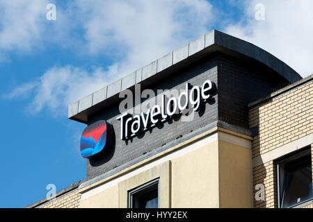 Travelodge hotel, Bristol city centre, UK - Stock Photo