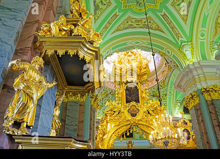 Peter and Paul Fortress church interior in St. Petersburg, Russia. - Stock Photo