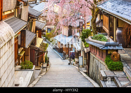 Kyoto, Japan at Higashiyama district in springtime. - Stock Photo