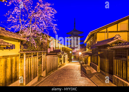 Kyoto, Japan in the Higashiyama district during spring. - Stock Photo