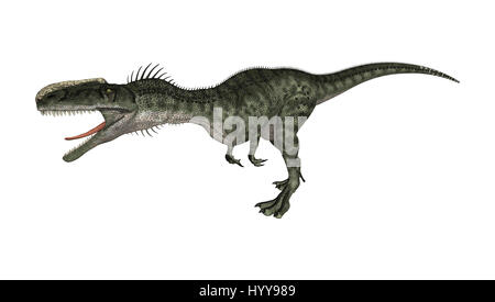 3D rendering of a dinosaur Monolophosaurus isolated on white background - Stock Photo