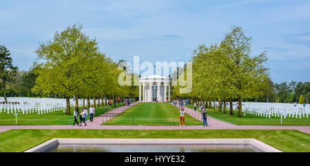 Normandy American Cemetery in Colleville-sur-Mer, France, May-08-2016 - Stock Photo