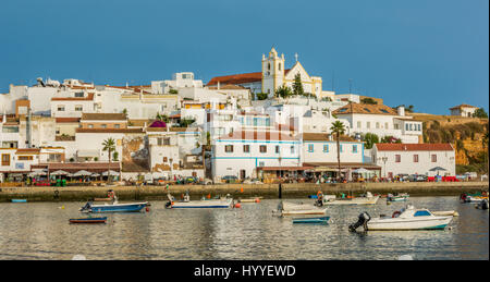 Late afternoon in Ferragudo, Algarve, Portugal, July-03-2016 - Stock Photo