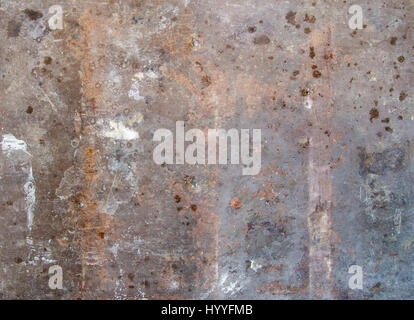 Badly aged and ruined metal sheet plate - Stock Photo