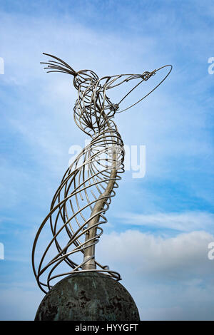 'Beacon of Hope', a sculpture by Andy Scott, Thanksgiving Square, Belfast, County Antrim, Northern Ireland, UK - Stock Photo