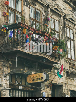 BUDAPEST, HUNGARY - MARCH 26, 2017: balcony in building - Stock Photo