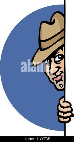 Spy. Vector Illustration. - Stock Photo