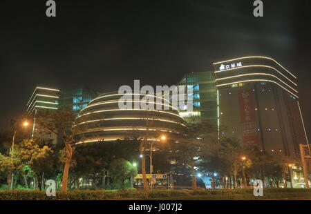 Core Pacific City Living mall in Taipei Taiwan. Core Pacific City Living mall is a shopping mall of 12 above ground - Stock Photo