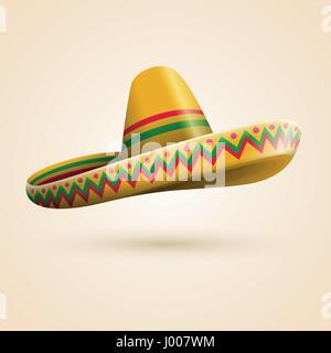 Cinco de Mayo hat. Vector illustration. - Stock Photo