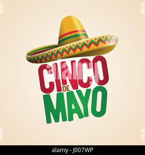 Cinco de Mayo holiday poster design. Vector illustration. - Stock Photo