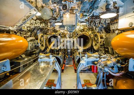 Submarine torpedo war room - Stock Photo