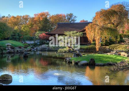 ... Shofuso Japanese Garden In Autumn, Fairmount Park, Philadelphia,  Pennsylvania   Stock Photo