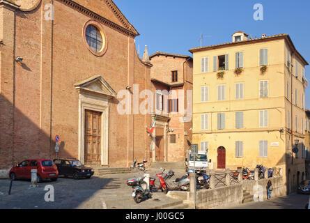 The Chiesa and Piazza di Santo Spirito in Siena, Italy